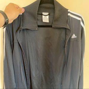 Adidas Track suit black with white detail -Medium